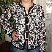 Одежда ручной работы. Ярмарка Мастеров - ручная работа Черно-белая кофточка Блики. Handmade.