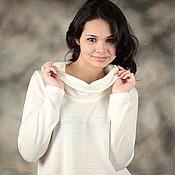 "Одежда handmade. Livemaster - original item Knitted jumper""White,soft"". Handmade."