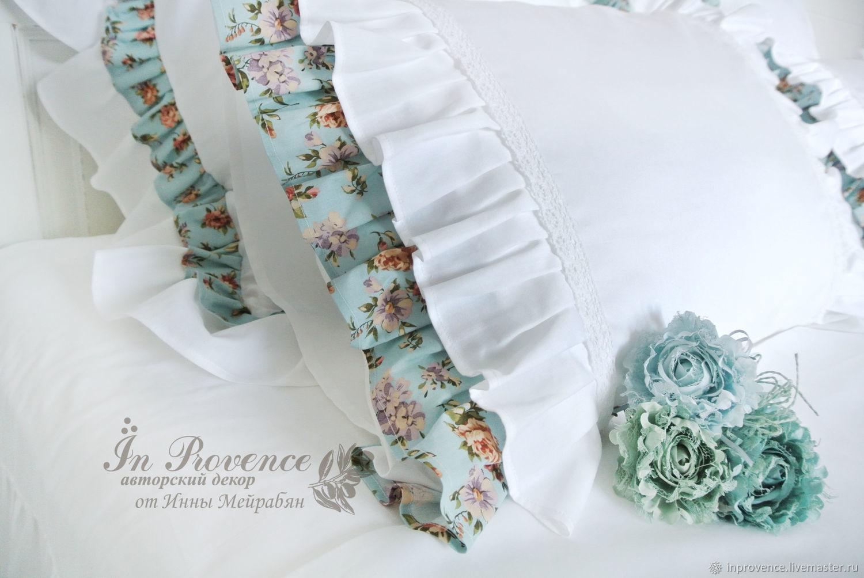 Bed linen, satin, cotton, Provence, shabby, vintage, Bedding sets, Krasnodar,  Фото №1