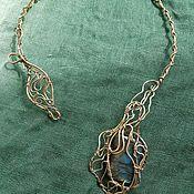 handmade. Livemaster - original item Necklace loop with Labrador in brass. Handmade.