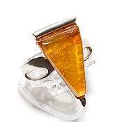 Rings handmade. Livemaster - original item Ring with amber