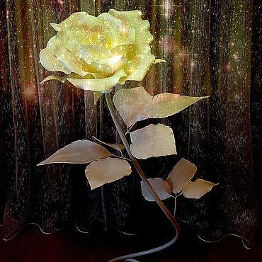 Свадебный салон ручной работы. Ярмарка Мастеров - ручная работа Интерьерная ростовая роза. Handmade.