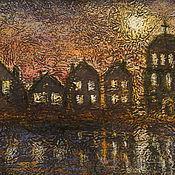 """Картины и панно ручной работы. Ярмарка Мастеров - ручная работа картина """"Город из сказки"""". Handmade."""
