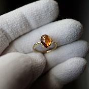 Украшения handmade. Livemaster - original item Honey Tourmaline Ring. Handmade.