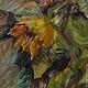 Картины цветов ручной работы. Подсолнухи в банке, этюд. AlenaTheArtist (AFrolova). Интернет-магазин Ярмарка Мастеров. Натюрморт, картина