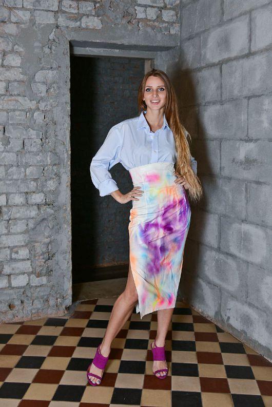 """Юбки ручной работы. Ярмарка Мастеров - ручная работа. Купить Юбка """"Граффити"""". Handmade. Модная юбка, большие размеры"""