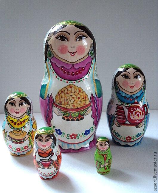 Matryoshka 'tatarochka'quintuple, Dolls1, Ufa,  Фото №1