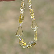 Украшения handmade. Livemaster - original item Beads of citrine Sparkle. Handmade.