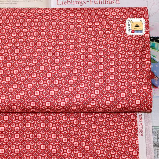 Шитье ручной работы. Ярмарка Мастеров - ручная работа. Купить Ткань для пэчворка STOF Цветы на красном (20197). Handmade.