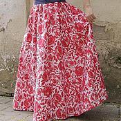 """Одежда ручной работы. Ярмарка Мастеров - ручная работа Длинная летняя юбка """"Пион"""".. Handmade."""