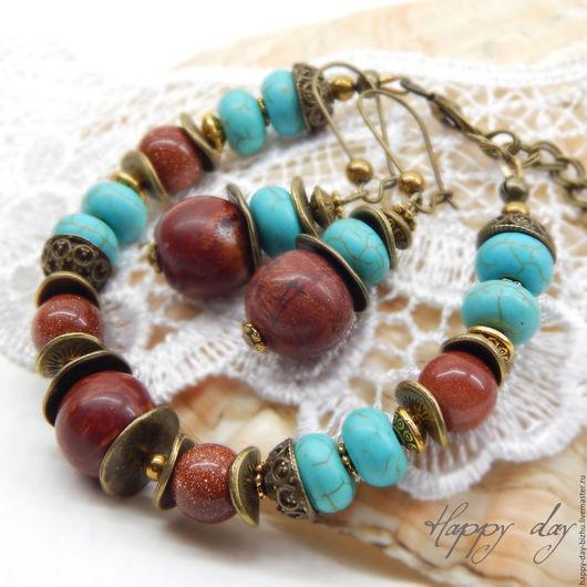 браслет, браслет женский, женский браслет, браслет красивый, красивый браслет, браслет на руку, браслет с бирюзой, браслет красно-коричневый, браслет коричнево-голубой, украшения с бирюзой, коричневый