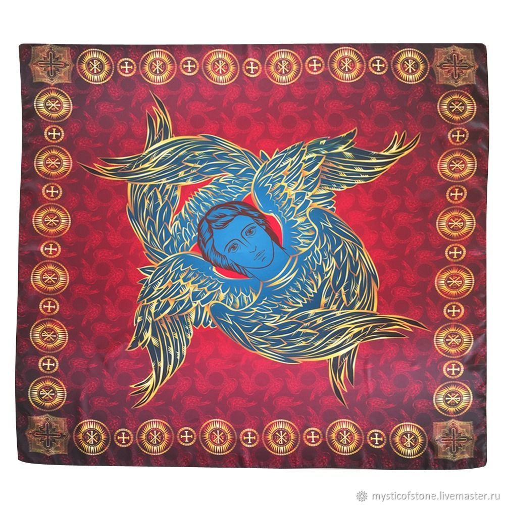 Kerchief Seraphim-Angels who see God, Ritual attributes, Moscow,  Фото №1