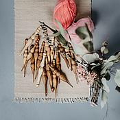 Материалы для творчества handmade. Livemaster - original item A set of wooden hooks crochet 2,5-15 mm - 17#11. Handmade.
