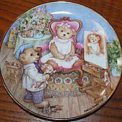 Винтаж handmade. Livemaster - original item Teddy marries cute plate series, Franklin Mint, England. Handmade.