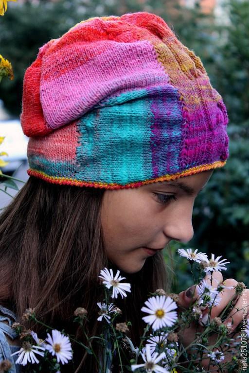 """Шапки ручной работы. Ярмарка Мастеров - ручная работа. Купить Шапка """"Настроение романтик"""". Handmade. Разноцветный, шапка вязаная, зима"""