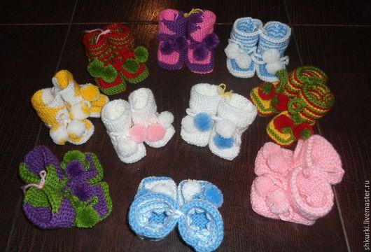 Детская обувь ручной работы. Ярмарка Мастеров - ручная работа. Купить Пинетки вязаные. Handmade. Пинетки, пинетки детские, дети