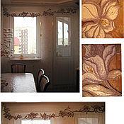 Для дома и интерьера handmade. Livemaster - original item embroidered valance for the kitchen. Handmade.