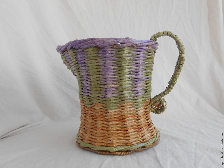 wicker basket 'Bouquet of lavender', Basket, Moscow,  Фото №1