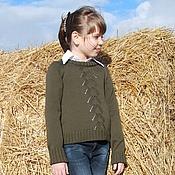 Работы для детей, ручной работы. Ярмарка Мастеров - ручная работа Пуловер вязаный для девочки Olivia. Handmade.