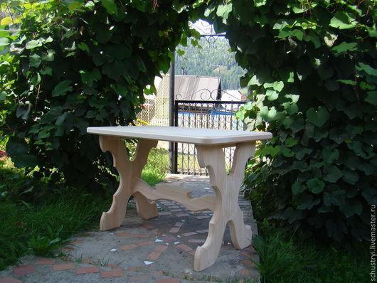 Мебель ручной работы. Ярмарка Мастеров - ручная работа. Купить Стол деревянный из массива кедра Трапезный. Handmade. Столешница
