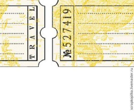 Открытки и скрапбукинг ручной работы. Ярмарка Мастеров - ручная работа. Купить Бумажный скотч с принтом Дорожные бирки 15мм х 8м. Handmade.