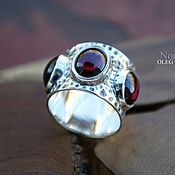 Украшения handmade. Livemaster - original item Ethnic ring with three grenades or.. Handmade.