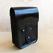 Сумки и аксессуары handmade. Livemaster - original item Pouch belt. black. Handmade.