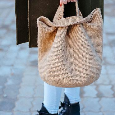 """Сумки и аксессуары ручной работы. Ярмарка Мастеров - ручная работа Джутовая сумка """"Осенний шоппер"""". Handmade."""