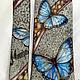 Order Tie men's silk batik 'morpho butterflies'. Kenaz silk (KENAZ). Livemaster. . Ties Фото №3