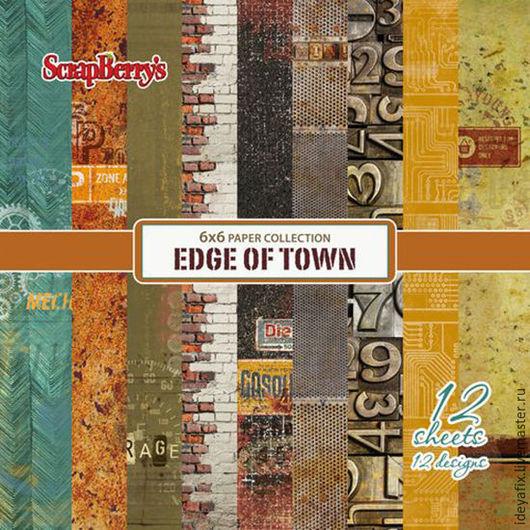В набор входит 12 односторонних листов бумаги с дизайнами коллекции.  Размер: 15х15 см. Плотность: 190 гр/м Коллекция: Гаражи. Edge of town Бренд: ScrapBerry`s