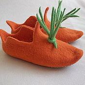 """Обувь ручной работы. Ярмарка Мастеров - ручная работа Тапочки """"Морковка"""". Handmade."""