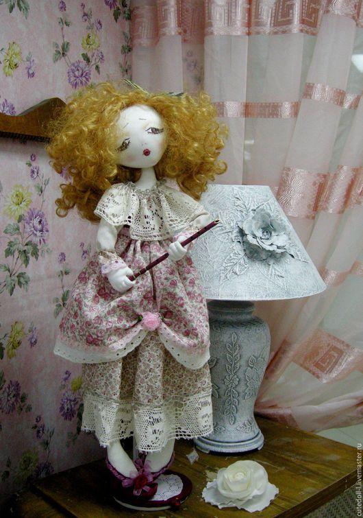 Коллекционные куклы ручной работы. Ярмарка Мастеров - ручная работа. Купить Интерьерная текстильная кукла. Коллекция «Пастораль».. Handmade. Розовый