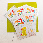 """Открытки ручной работы. Ярмарка Мастеров - ручная работа Открытка детская """"С днем рождения"""", открытки оптом. Handmade."""