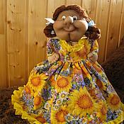 Для дома и интерьера ручной работы. Ярмарка Мастеров - ручная работа Кукла-грелка на чайник чулочная Маруся. Handmade.