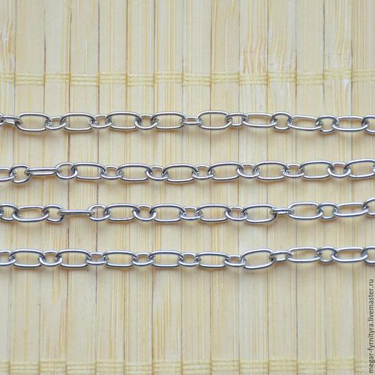 Для украшений ручной работы. Ярмарка Мастеров - ручная работа. Купить 50 см Цепь 6.5x3.7мм-4x3.5 мм. Handmade.