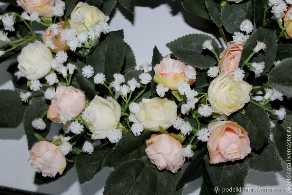 Florist Arrangements handmade. Livemaster - handmade. Buy The interior wreath with roses.Roses, decoration for interior