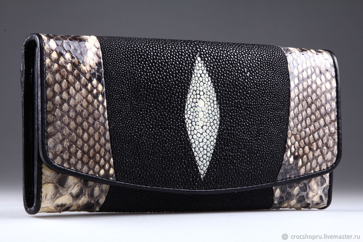 Sea Stingray and Python Leather wallet IMCP0018BZ1, Wallets, Moscow,  Фото №1
