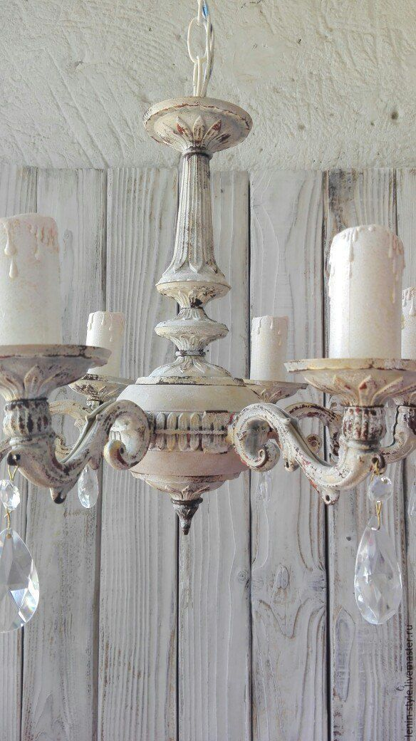 Chandelier provenceabby chic vintage shop online on livemaster lamps handmade chandelier provenceabby chic vintage leninstyle my livemaster aloadofball Images