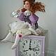 Коллекционные куклы ручной работы. Клоунесса. Авторская кукла-часы.. Наталья Дегтярева (Natadeg). Интернет-магазин Ярмарка Мастеров.