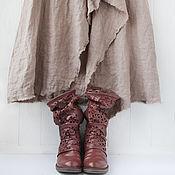 Одежда handmade. Livemaster - original item Luxury linen skirt in boho style. Handmade.