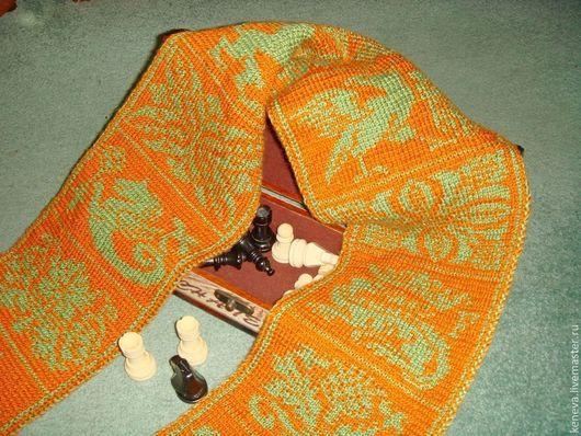 Шарфы и шарфики ручной работы. Ярмарка Мастеров - ручная работа. Купить Вязаный шарф Осень в Камелоте. Handmade. Шарф, рыжий