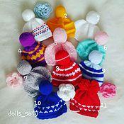 Куклы и игрушки ручной работы. Ярмарка Мастеров - ручная работа Шапки для кукол. Handmade.