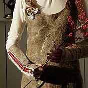 Платья ручной работы. Ярмарка Мастеров - ручная работа Авторский сарафан,теплый сарафан,теплое платье миди,до колена Scotland. Handmade.