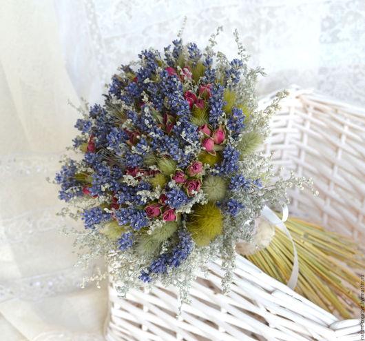 Букеты ручной работы. Ярмарка Мастеров - ручная работа. Купить «Роза Прованса» букет из сухоцветов. Handmade. В эко стиле