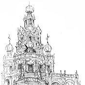 Картины и панно ручной работы. Ярмарка Мастеров - ручная работа Церковь Покрова в Филях. Handmade.