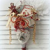 Подарки к праздникам ручной работы. Ярмарка Мастеров - ручная работа Рождественские кульки Tussie Mussie-елочные интерьерные подвески. Handmade.