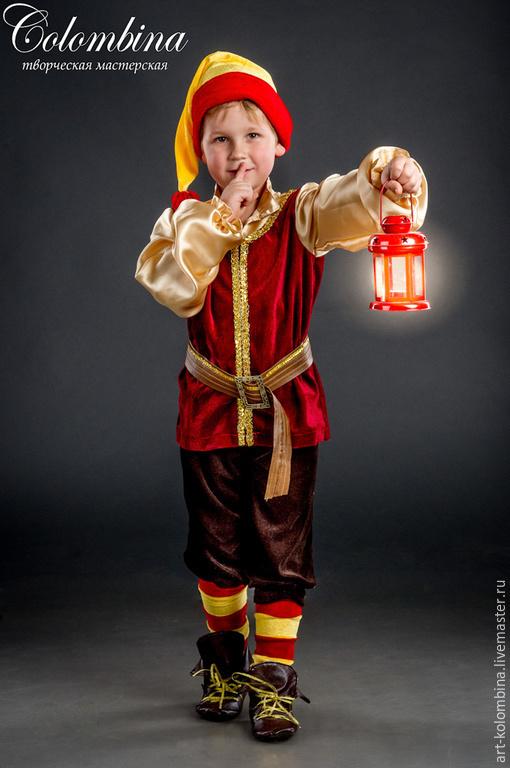 Детские карнавальные костюмы ручной работы. Ярмарка Мастеров - ручная работа. Купить Костюм гномика. Handmade. Бордовый, гномик, атлас