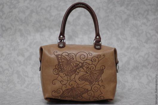 Женские сумки ручной работы. Ярмарка Мастеров - ручная работа. Купить Женская кожаная сумка-трансформер  155. Handmade. Коричневый