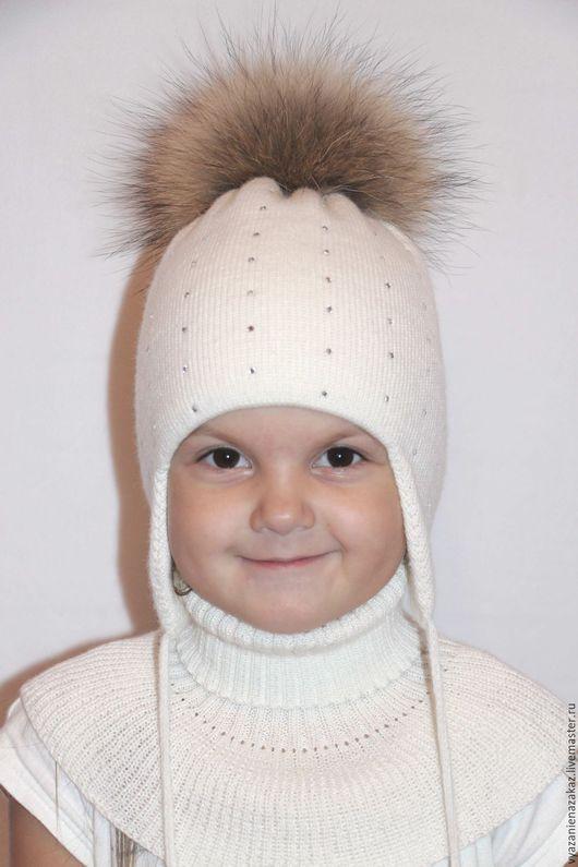 Шапки и шарфы ручной работы. Ярмарка Мастеров - ручная работа. Купить Шапочка детская. Handmade. Белый, шапочка детская