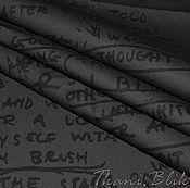 Материалы для творчества ручной работы. Ярмарка Мастеров - ручная работа Рубашечная ткань с принтом в виде надписей и букв ( Италия ). Handmade.
